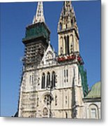 Cathedral In Zagreb Croatia Metal Print