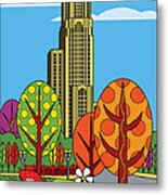 Cathedral Of Learning Metal Print by Ron Magnes