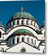 Cathedral Of Saint Sava In Belgrade Serbia Metal Print