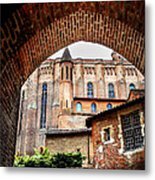 Cathedral Of Ste-cecile In Albi France Metal Print by Elena Elisseeva