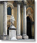 Cathedral Of Syracuse Metal Print by Kathleen English-Barrett