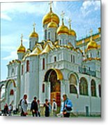 Cathedral Of The Annunciation Inside Kremlin Walls In Moscow-russia Metal Print