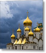 Cathedral Of The Annunciation Of Moscow Kremlin - Square Metal Print