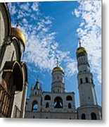 Cathedral Of The Dormition And Ivan The Great Belfry Of Moscow Kremlin Metal Print