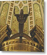 Cathedral Of The Immaculate Conception Detail - Mobile Alabama Metal Print