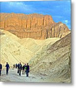 Cathedral Peaks From Golden Canyon In Death Valley National Park-california Metal Print