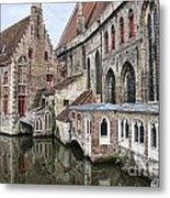 Cathedral Reflection Metal Print