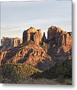 Cathedral Rock At Sunset Metal Print