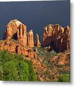 Cathedral Rock Before The Storm Metal Print