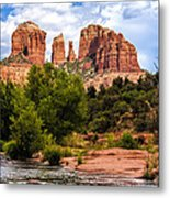 Cathedral Rock Metal Print by Fred Larson