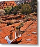 Cathedral Rock In Winter Metal Print