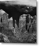 Cathedral Rock Moon Rise Metal Print