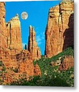 Cathedral Rock Moon Metal Print