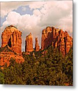 Cathedral Rock Sunset Metal Print