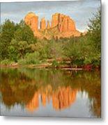 Cathedral Rocks Reflection Metal Print