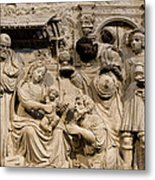 Cathedral Wall Nativity Sculpture Metal Print