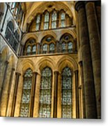 Cathedral Walls And Windows Metal Print