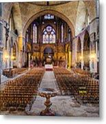 Cathedrale Saint-etienne Interior / Cahors Metal Print
