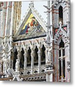 Cathedrals Of Tuscany Siena Italy Metal Print
