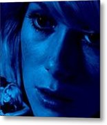 Catherine Deneuve in the film Repulsion Metal Print
