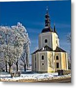 Catholic Church In Town Of Krizevci Metal Print
