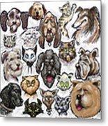 Cats And Dogs Metal Print