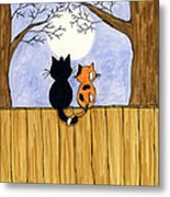 Cats Night Out Metal Print