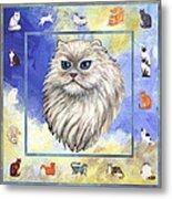 Cats Purrfection Four - Persian Metal Print