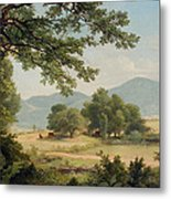 Catskill Meadows In Summer Metal Print by Asher Brown Durand