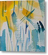 Cattail Sun Metal Print