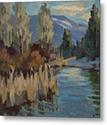 Cattails At Harry's Pond 1 Metal Print