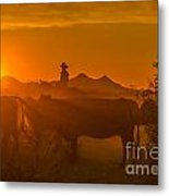 Cattle Drive 21 Metal Print