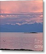 Cattle Point At Sunset On Vancouver Island British Columbia Metal Print