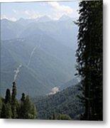 Caucasus Mountains - Krasnaya - Sochi Russia Metal Print