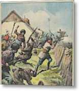 Caucasus Rebels Fight  Government Troops Metal Print