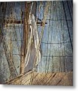 Caught By The Sea Metal Print