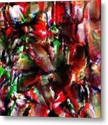 Caught In The Crowd Two Water Color And Pastels Wash Metal Print