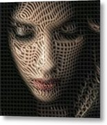 Caught In The Network Metal Print