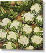 Cauliflower March Metal Print by Jen Norton