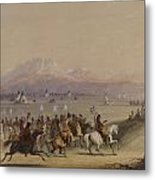 Cavalcade By The Snake Indians Metal Print