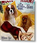 Cavalier King Charles Spaniel Art - Moon Over Miami Movie Poster Metal Print