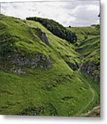 Cave Dale From Peveril Castle Metal Print