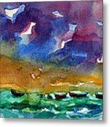 Cayman Color Water Metal Print