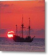 Cayman Sunset Metal Print by Carey Chen