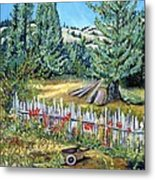 Cazadero Farm And Flowers Metal Print