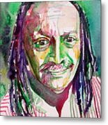 Cecil Taylor - Watercolor Portrait Metal Print