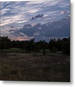 Cedar Park Texas Cedar And Clouds Sunset Metal Print