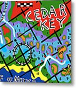 Cedar Key Chart Metal Print