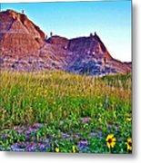 Cedar Pass At Dusk In Badlands National Park-south Dakota Metal Print