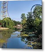 Cedar Point Ohio Metal Print
